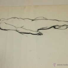 Arte: ANTIGUO DESNUDO DE MUJER ACOSTADA A CARBON 1954. Lote 48352914