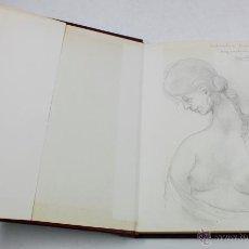 Arte: AGUSTIN GUASCH, LINA FONT. DIBUJO DEDICADO EN LIBRO DEL ARTISTA, 18X25 CM.. Lote 48381336