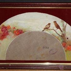 Arte: ELEGANTE PAÍS PARA ABANICO PINTADO DE AUTOR ANÓNIMO. GOUACHE SOBRE SEDA. AÑOS 30-40. KOBE (JAPÓN). Lote 48414858