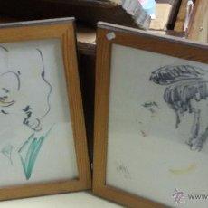 Arte: DOS DIBUJOS - CARICATURAS FIRMADAS. Lote 48458090