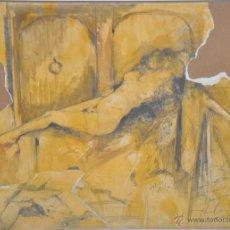 Arte: VIRGILIO GALÁN , ESCULTOR . DIBUJO ORIGINAL FIRMADO Y FECHADO MALAGA 2002. Lote 48511537