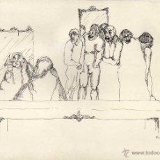 Arte: DIBUJO ORIGINAL A TINTA 29 X 20 CTMS. FIRMADO. AÑO 1974. Lote 48539699
