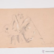 Arte: DIBUJO A DOS CARAS A LAPIZ BOUQUET. Lote 48627912