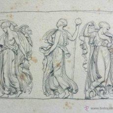 Arte: MARAVILLOSOS RETRATOS ORIGINALES CLÁSICOS, EXCELENTE TRAZO, FINALES DEL XVIII, GRAN CALIDAD. Lote 48730795