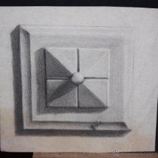 Arte: ANONIMO. DIBUJO A CARBON. APUNTE. Lote 269349108