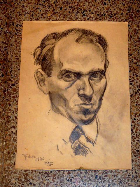 DIBUJO DE CALIDAD DE HERNAN PICO.1946 (Arte - Dibujos - Contemporáneos siglo XX)