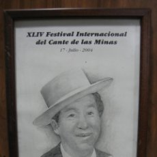 Arte: DIBUJO DE JUANITO BALDERRAMA.XLIV FESTIVAL INTERNACIONAL CANTE DE LAS MINAS. MEDIDAS 31X23CM. VIATOR. Lote 48938081