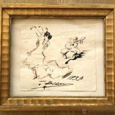 Arte: MARAVILLOSO DIBUJO ORIGINAL A TINTA, FIRMADO Y FECHADO 1933, EXCELENTE TRAZO Y CALIDAD. Lote 48975116