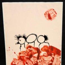 Arte: ILEGIBLE. TECNICA MIXTA SOBRE CARTULINA. ABSTRACTO. Lote 48987060