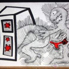 Arte: ILEGIBLE. TECNICA MIXTA SOBRE PAPEL. ABSTRACTO. Lote 48987475