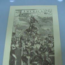 Arte: LAMINA, FACSIMIL, AMERICA, CALCOGRAFIA, JACOB VAN MEURS. (35X24). Lote 267460424
