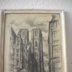 Arte: DIBUJO A LAPIZ Y CARBON 1920'S FIRMADO.. Lote 49122335