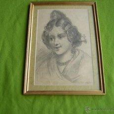 Kunst - CUADRO CON DIBUJO DE FALLERA DE R.GIMENO 1929 PINTOR NACIDO EN CASTELLON - 49339884