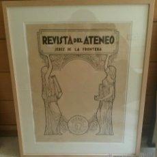 Arte: DIBUJOS ORIGINALES PARA LAS PORTADAS DE LA REVISTA DEL ATENEO DE JEREZ. VANGUARDIAS. AÑOS 20.. Lote 49384302