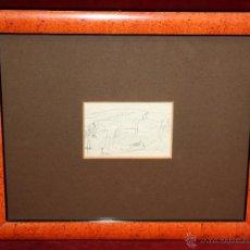 Arte: JOAQUIM MIR I TRINXET (BARCELONA, 1873 - 1940) DIBUJO A LÁPIZ DE PRINCIPIOS DEL SIGLO XX. APUNTES. Lote 49425764