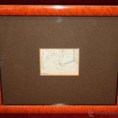 Arte: JOAQUIM MIR I TRINXET (BARCELONA, 1873 - 1940) DIBUJO A LÁPIZ DE PRINCIPIOS DEL SIGLO XX. APUNTES. Lote 49425843