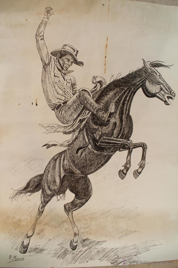 DIBUJO ORIGINAL FIRMADO - TINTA ROTULADOR (Arte - Dibujos - Contemporáneos siglo XX)
