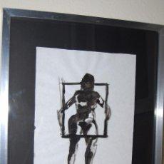 Arte: DIBUJO ORIGINAL - TINTA - JUAN JOSÉ VIOTA SAINZ - FIGURA DE MUJER - RETRATO FEMENINO - CANTABRIA. Lote 49531022