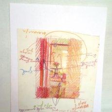 Arte: EXCEPCIONAL BOCETO DE CUADRO DE JOSE MARÍA CUASANTE. Lote 49632126