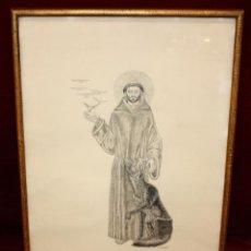 Arte: JOSEP GRANYER GIRALT ( BARCELONA 1899-1983) DIBUJO A TINTA PROCEDENTE DEL AÑO 1961. Lote 49664983