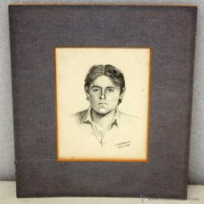 Arte: FIRMADO E. PEÑARROJA Y FECHADO DEL 1980. DIBUJO A LAPIZ. RETRATO MASCULINO. Lote 49665306