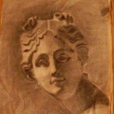 Arte: FDO. I. DÍAZ, DETRÁS IGNACIO DÍAZ OLANO. VITORIA, DIBUJO ACADÉMICO, CARBONCILLO; BARCELONA, ROMA.. Lote 49734291