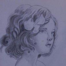 Arte: ÁLBUM DE DIBUJOS A LÁPIZ O CARBONCILLO. FIRMADOS ANTONIA FLUIXÁ. Lote 49846329
