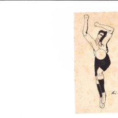 Arte: DIBUJO ORIGINAL JOSE MARIA CAMBRA PINTOR BARCELONES SIGLO XIX/XX ILUSTRACION MANUAL FOOTBALL FUTBOL. Lote 49889475