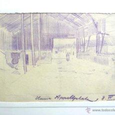 Arte: MARAVILLOSO DIBUJO ORIGINAL IMPRESIONISTA FECHADO ABRIL 1915, EXCELENTE CALIDAD. Lote 49890538