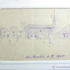 Arte: BONITO DIBUJO ORIGINAL IMPRESIONISTA FECHADO ABRIL 1915, EXCELENTE CALIDAD . Lote 49895435