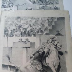 Arte: DIBUJO DE DANIEL PEREA Y ROJAS, PREVIO A LA IMPRESION DE LA LIDIA, FIRMADO Y ROTULADO A MANO.. Lote 49955675