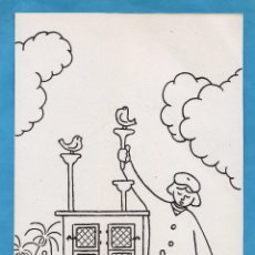 Arte: DIBUJO ORIGINAL - OFICIOS Y TRABAJOS DE ANTAÑO - FOTOGRAFO - AUT. A. FERRAN - AÑOS 50. Lote 49987866