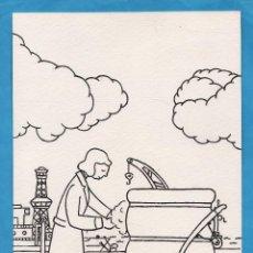 Arte: DIBUJO ORIGINAL - OFICIOS Y TRABAJOS DE ANTAÑO - BASURERO - AUT. A. FERRAN - AÑOS 50. Lote 49987875