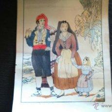 Arte: TRAJES REGIONALES GERONA GIRONA SIGLO XIX D'IVORI. Lote 50166241