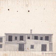 Arte: DIBUJO ARQUITECTÓNICOS DOS ALZADOS DE UNA FACHADA DE UNA CASA VALENCIA SIGLO XVIII. Lote 50319154