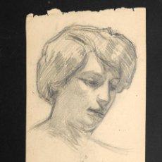 Arte: DIBUJO A LAPIZ POR DOS CARAS FIRMADO FERRATER 1912. Lote 50322130