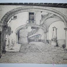 Arte: MALLORCA. PATIO DE LA CALLE ALMUDAINA, ACTUALMENTE CONSULADO INGLÉS. PALMA DE MALLORCA.. Lote 50325096