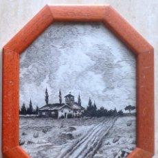 Arte: GASTON CASTELLO BRAVO (1901-1986) . DIBUJO A TINTA - ENMARCADO CRISTAL 24 X 18 - ERMITA. Lote 50361987