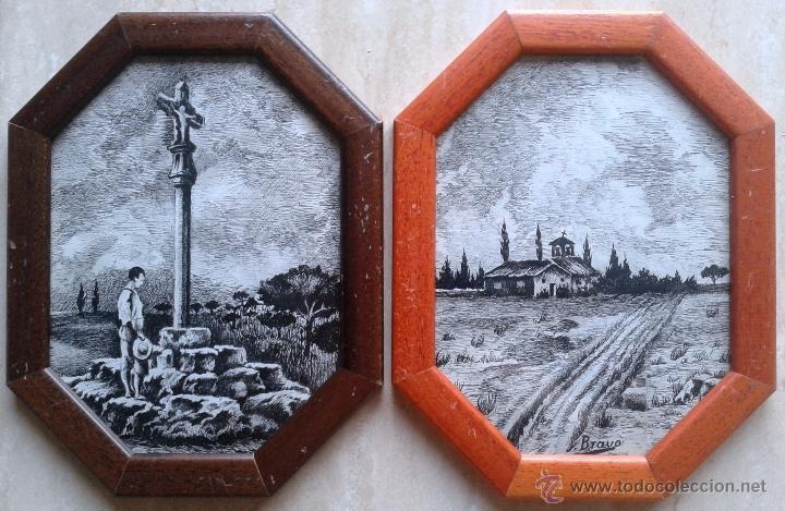 Arte: GASTON CASTELLO BRAVO (1901-1986) . DIBUJO A TINTA - ENMARCADO CRISTAL 24 X 18 - ERMITA - Foto 2 - 50361987