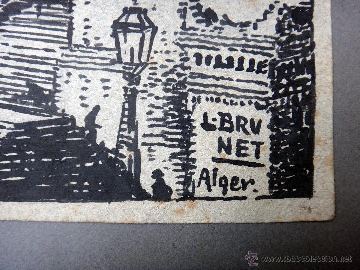 Arte: DIBUJO DE ALGEL, ARGELIA CATEDRAL DE ARGEL , GRANDE , DE L. BRUNET ,ORIGINAL, G - Foto 3 - 50395726