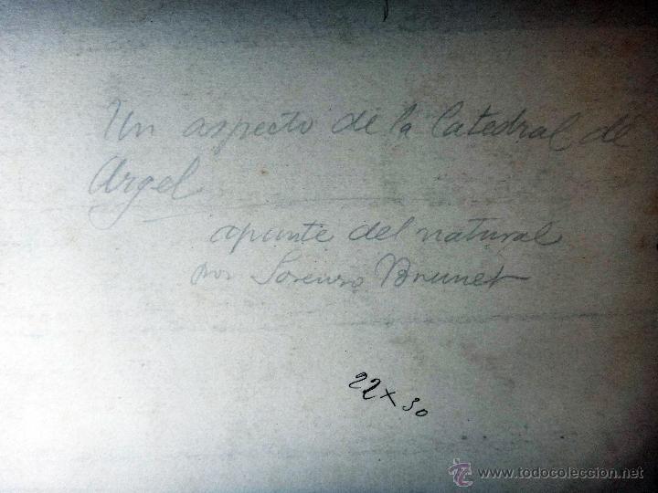 Arte: DIBUJO DE ALGEL, ARGELIA CATEDRAL DE ARGEL , GRANDE , DE L. BRUNET ,ORIGINAL, G - Foto 4 - 50395726