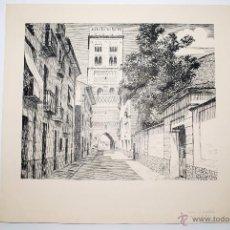 Arte: TORRE DE SAN MARTÍN. TERUEL. DIBUJO ORIGINAL A LA TINTA.. Lote 50420561