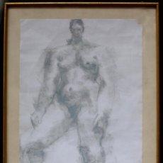 Arte: CASIMIRO MARTÍNEZ TARRASSÓ (1898-1980) FIGURA SOBRE PAPEL 34X46 CM. MARCO: 44X58 CM.. Lote 50528408
