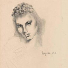 Arte: TAMARA DE LEMPICKA . DIBUJO FIRMADO DE 1928 ENMARCADO CATALOGADO EN CATÁLOGO RAZONADO ALAIN BLONDEL. Lote 50554678