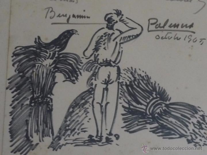 Arte: Dibujo con dedicatoria, por Benjamín Palencia - Foto 5 - 50564060