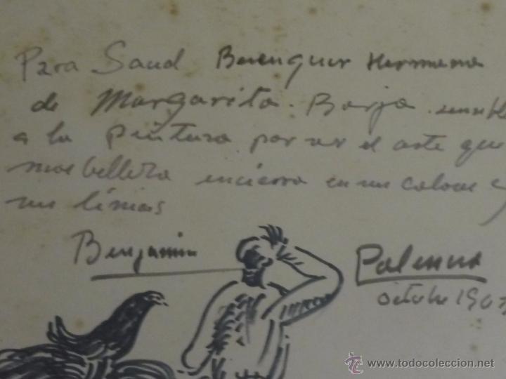 Arte: Dibujo con dedicatoria, por Benjamín Palencia - Foto 7 - 50564060