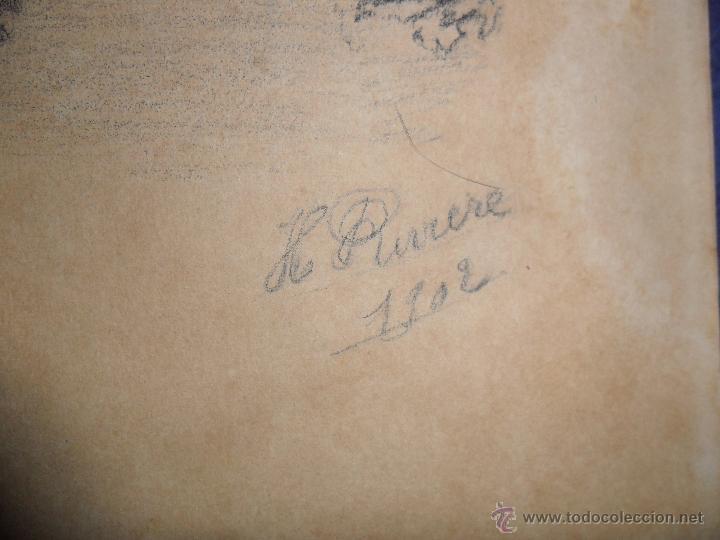 Arte: ANTIGUO DIBUJO FIRMADO Y FECHADO H. RIVERE 1902. IGLESIA AL LADO DE RIO, MEDIDAS 38X43 CM. - Foto 3 - 50629350