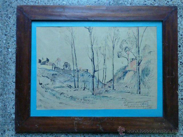 DIBUJO DE RAMÓN CORTÉS.(DEDICADO AL GRAN DIBUIXANT I GRAN AMIC OPISSO AFECTUOSAMENT). (Arte - Dibujos - Contemporáneos siglo XX)