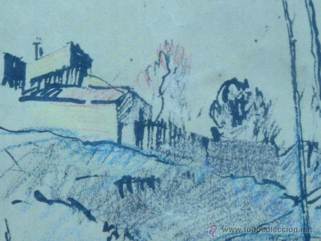 Arte: dibujo de Ramón Cortés.(dedicado al gran dibuixant i gran amic Opisso afectuosament). - Foto 4 - 50654405