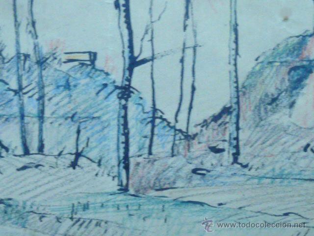 Arte: dibujo de Ramón Cortés.(dedicado al gran dibuixant i gran amic Opisso afectuosament). - Foto 5 - 50654405
